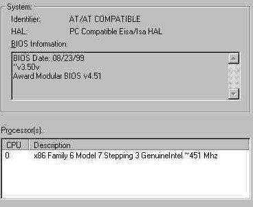 My BIOS Settings